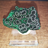 Aqumotic Natural Malachite Mineral Crystal Specimen 1pc Collection Lucky Stone Mallache Car Decoration Mascot Physic Rock Decor