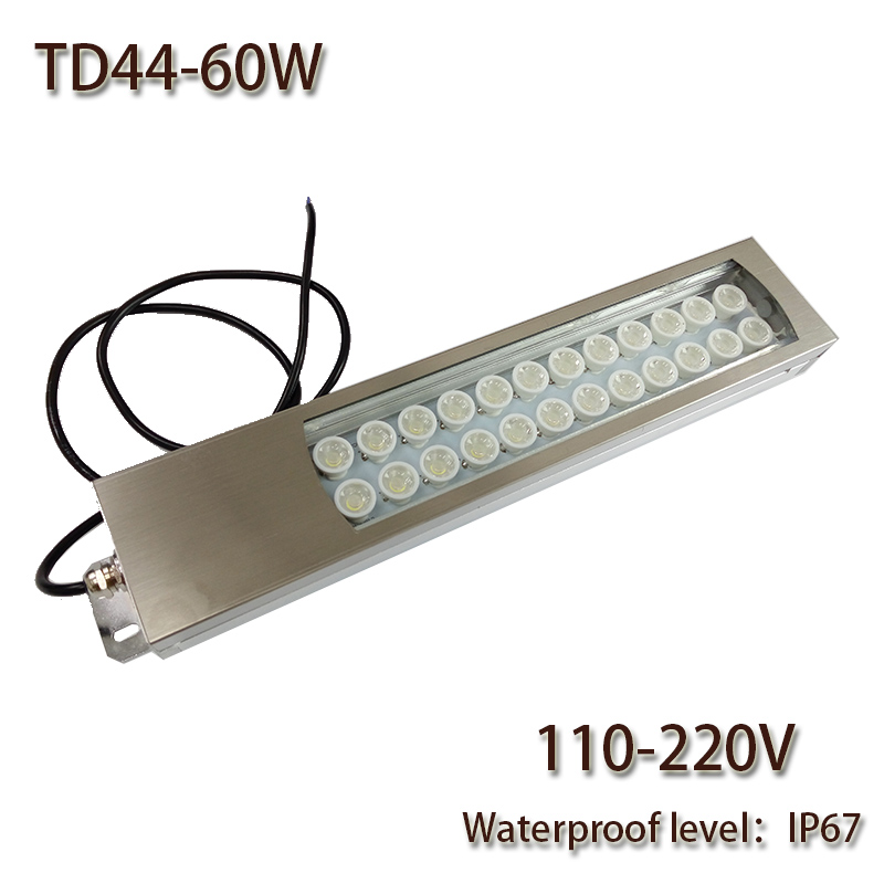 HNTD 60W Led Panel Light AC 110V/220V LED Metal Work Light TD44 Concentrating CNC Machine Work Tool Lighting Waterproof IP67