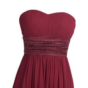 Image 5 - Tiaobug 여성 성인 strapless 쉬폰 신부 들러리 드레스 긴 tulle 맥시 바닥 길이 드레스 파티 드레스 공주 여름 드레스