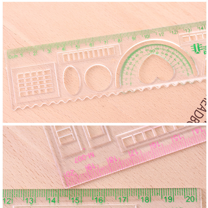 20 CM Kawaii Heart Triangle Ruler Creative Multifunctional Geometry Rulers for Students Writing Drawing Cute Stationery School