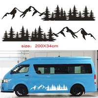for Tree Mountain Decal Forest Vinyl Custom Nature Graphic Camper RV Trailer Truck Custom Sticker Camper RV Trailer Truck da 25