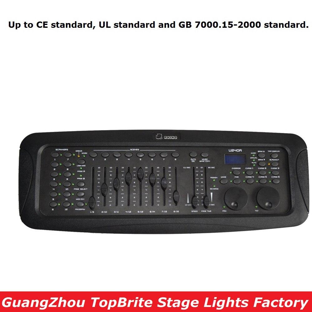 NEW Design RHINO 240 DMX Controller Stage Lighting DJ Equipment Professional DMX Console For LED Par Moving Head Lights автоинструменты new design autocom cdp 2014 2 3in1 led ds150