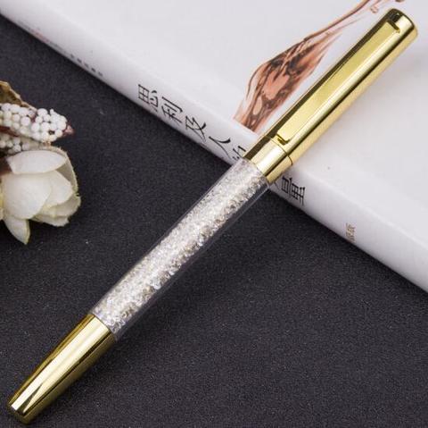 10 pcs lote moda cristal de diamante caneta canetas gel papelaria caneta esferografica novidade presente