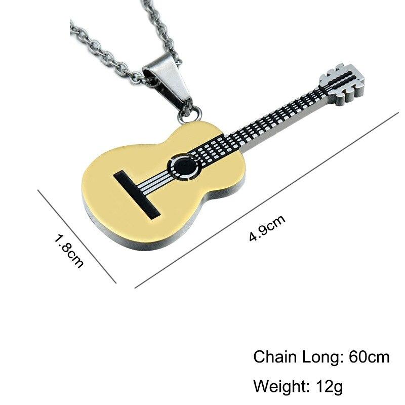 Guitar pendant necklace- guitarmetrics