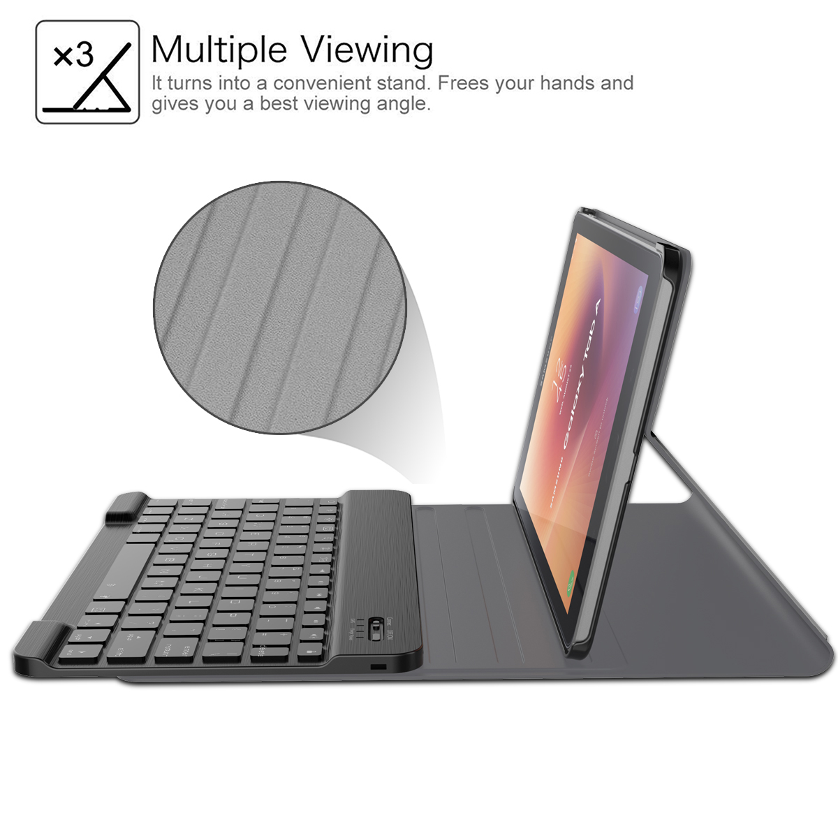 תאורה אחורית עבור Samsung Galaxy Tab 10.5 A2 עיצוב T595 T590 להפרדה Tablet איטלקית Bluetooth עם תאורה אחורית עור מקלדת מקרה ייחודי Stripe (5)