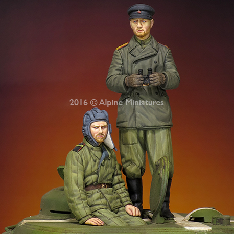 1:35 WW2 Russian Tank Crew Set
