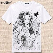 Una Pieza de La Camiseta Hombres de La Moda de Las Mujeres Ropa Ropa de Anime Cosplay T-shirt de Manga Corta Camiseta de Algodón Superior