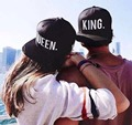 2016 NEW Hot Sale KING QUEEN Embroidery Snapback Hat Acrylic Men Women Couple Baseball Cap Gifts Fashion Hip-hop Sport Caps