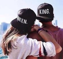 Hot Sale KING QUEEN Embroidery Snapback Hat Acrylic Men Women Couple Baseball Cap Gifts Fashion Hip-hop Caps