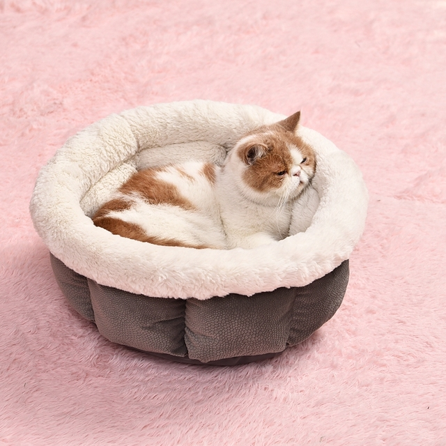 Soft Cat Bed Kitten Nest Luxury Dog Kennel Puppy House High Quality Bed For Dog Cozy Kitten Cage Pet Supplies Warm Pet Mats