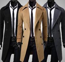 Winter Hohe qualität männer mäntel Mode tuch mantel zweireiher staubmantel