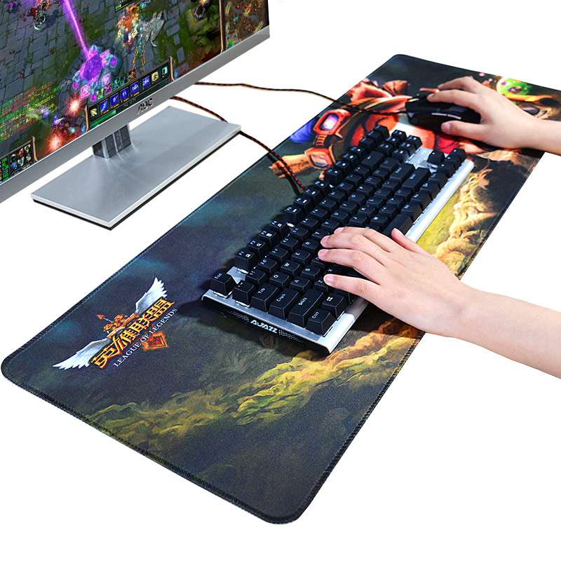2017 New 90*40CM Rubber Large Gaming Mouse Pad Locking Edge Computer Mousepad Mouse Mat For Dota 2 LOL CS go For Game Player  stitched edge rubber cs go large gaming mouse pad pc computer laptop mousepad for apple logo style print gamer speed mice mat