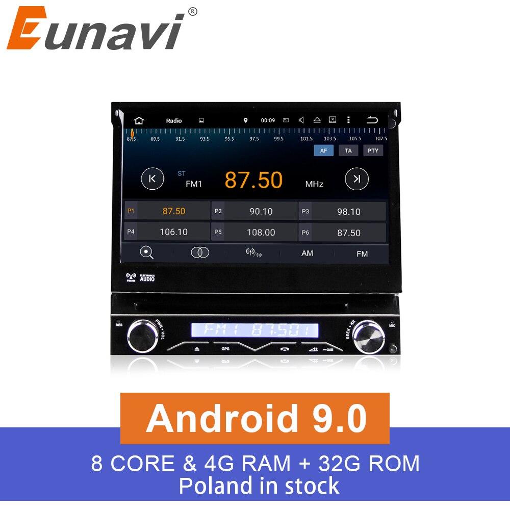 Eunavi 4G RAM 1 Din Android 9 0 Octa 8 Core Car DVD Player For Universal