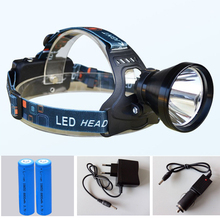 Headlight 2000 Lumens CREE XM-L Q5 LED Headlamp Head Lamp Light + 2*18650 6800mah battery + AC charger + Car Charger