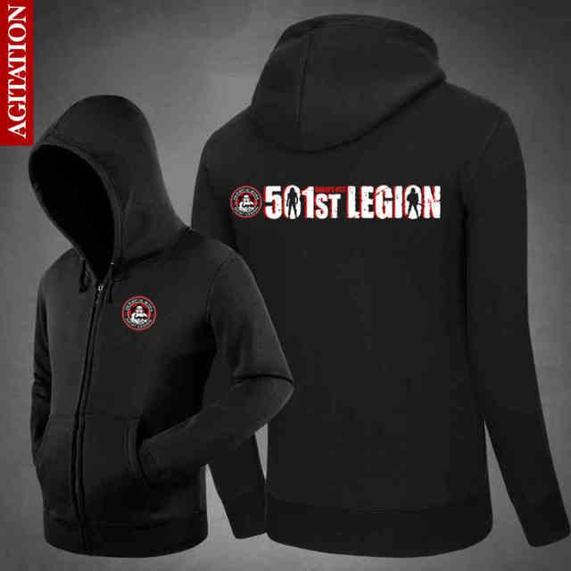 Star Wars Hoodie 501st Legion Man Spring Hoodies&Sweatershirt Black/Blue Cotton Outwear Cosplay Costume