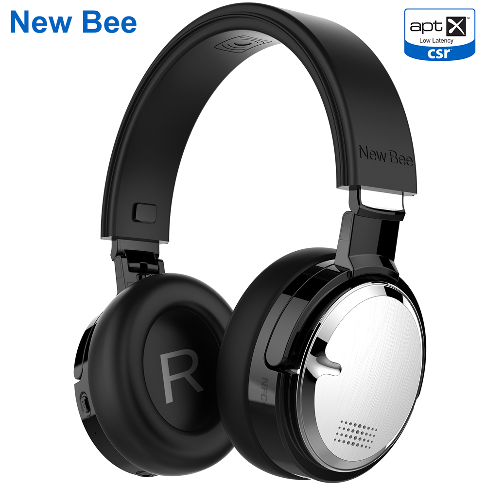 New Bee Active Noise Cancelling Headphones Foldable ANC Headset Wireless Bluetooth Headphone With Mic NFC For Xiaomi,Samsung bluetooth headset wireless 4 0 earphones with noise cancelling mic hands free headphone earbuds for iphone samsung xiaomi huawei