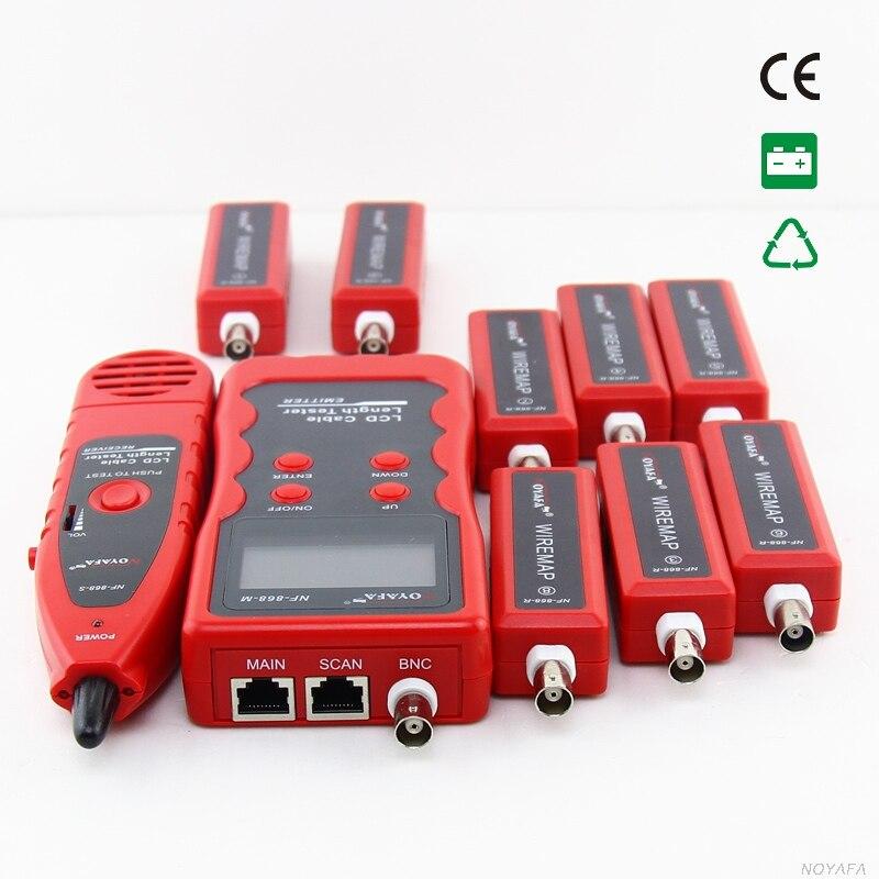 Livraison Gratuite! NOYAFA NF-868W testeur de câble réseau fil Tracker longueur Scan RJ45 Coaxial téléphone STP/UTP et USB
