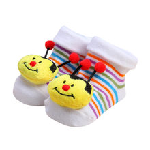 1 Pair Newborn Baby Socks Anti Slip Cotton Shoes Cartoon Newborn Baby Girls Boys Anti-Slip Socks Slipper Shoes Boots(China)