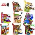 14 Стиль Английский Язык Мягкая Ткань Книга 0 ~ 12 Месяцев Bebe Juguetes Brinquedos Пункт Bebe Обучения и Образования детские Книги, Игрушки