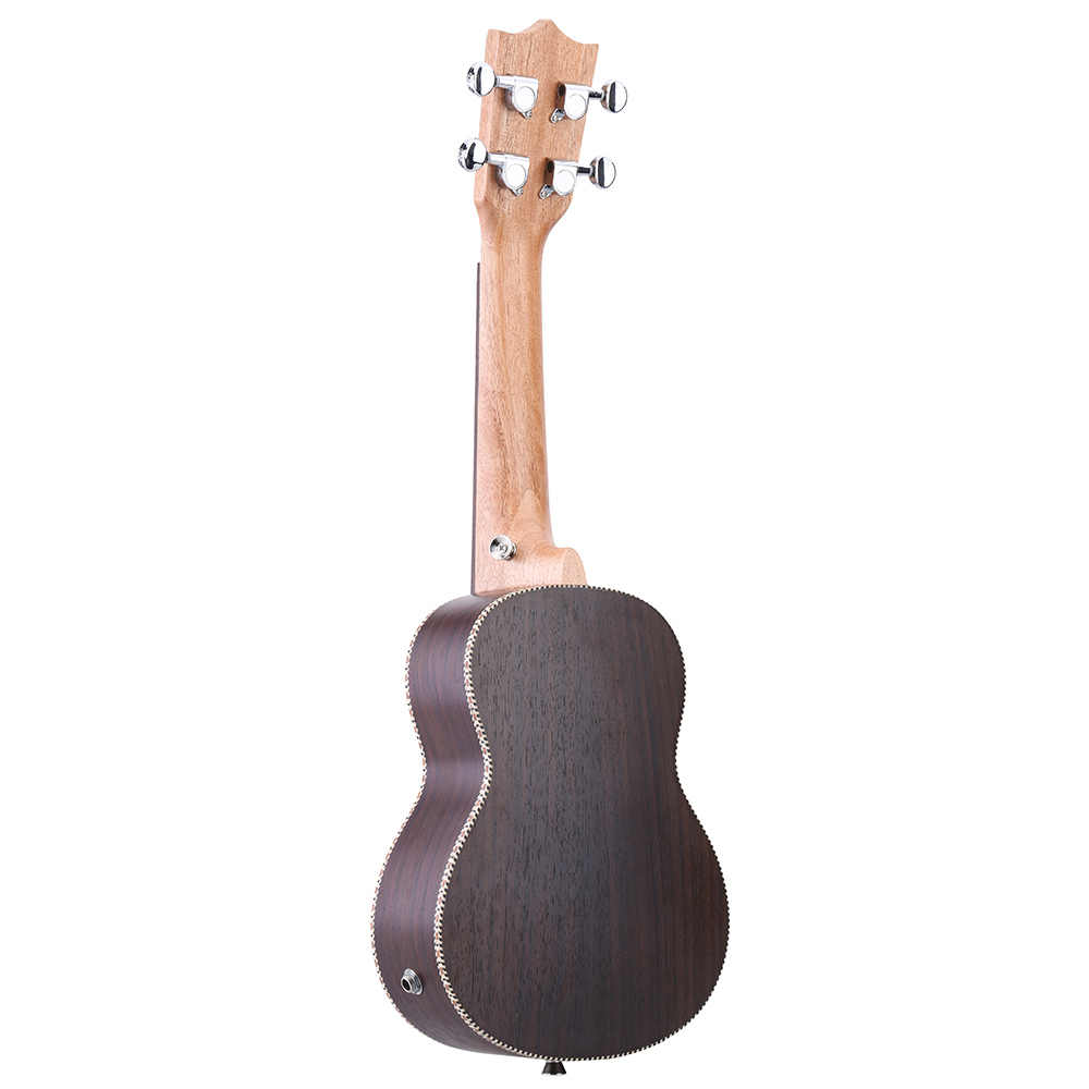 """Ammoon Ukelele en épicéa de haute qualité 21 """"ukulélé acoustique Uke 15 Fret Instrument de musique à 4 cordes avec micro-égaliseur intégré"""