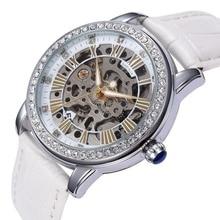 Nouveau SHENHUA Montre-Bracelet Femmes Squelette Automatique Mécanique Montres femmes Strass dames Mécaniques montre-bracelet Fille de Cadeau
