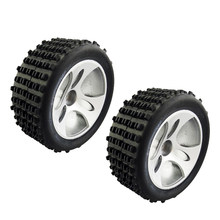 2 Pcs 1/18 4WD RC Buggy Black Tire Banden voor Wltoys A959 Radio Control Speelgoed Accessoires(China)