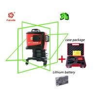 3D 12 линий зеленый лазерный уровень с литиевой батареей 93 т лазерный луч линия самонивелирующийся 360 горизонтальный и вертикальный крест мощ