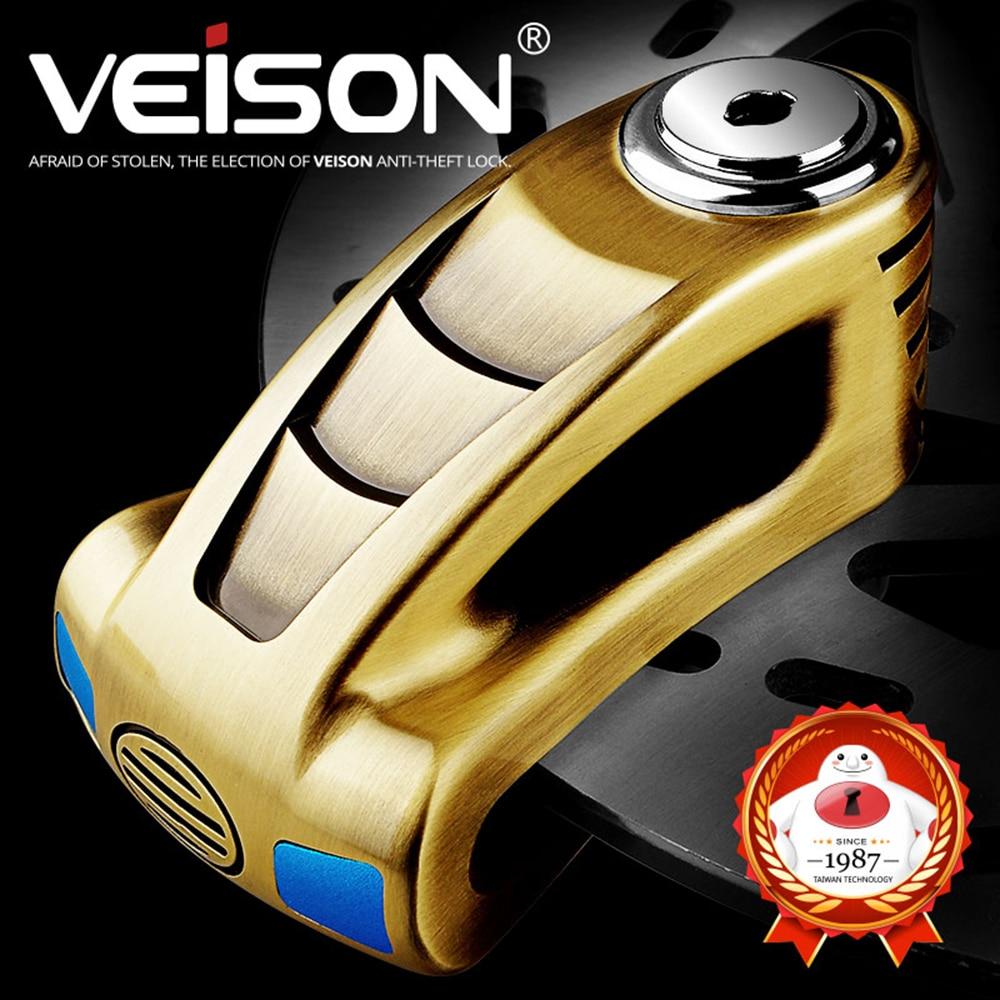 VEISON MTB Bicycle Theft Pretection Brake Lock Motor Scooter Motorcycle Rotor Brakes Disc Lock 6mm Pin Motorbike Lock Waterproof