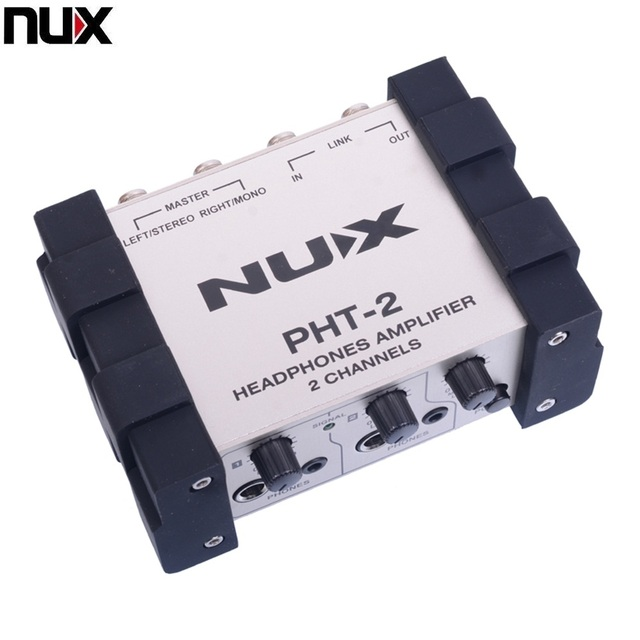nux pht 2 headphones amplifier two channel stereo headphone preamp for electric guitar in guitar. Black Bedroom Furniture Sets. Home Design Ideas
