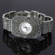 Top Quality Limited Edition Classic Silver Women Bracelet Watch Lady Real Silver Watch Pure Silver Bracelet Watch Silver Bangle