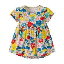 Little Maven 2019 Summer New Short sleeveKids Girls Clothes Children kids girl Butterfly beach Vest dress Dresses 2-7 Years цена 2017