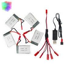 H11D 3.7 v Lipo batterie 1000 mah JST batteries 5 pcs et chargeur avec plug pour JJRC H11C HQ898 rc Quadcopter drone Partie en gros