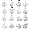16pcs 18mm Silver Harmony Bola Cage Engelsrufer Aromatherapy Floating Lockets Charm Pendant Jewelry for Belly Bola Chime Ball