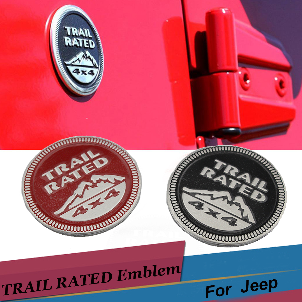 Jeep Customer Service >> Car Body Sticker Trail Rated 4X4 3D Emblem Badge Black Red Metal Decal for Jeep Wrangler Patriot ...