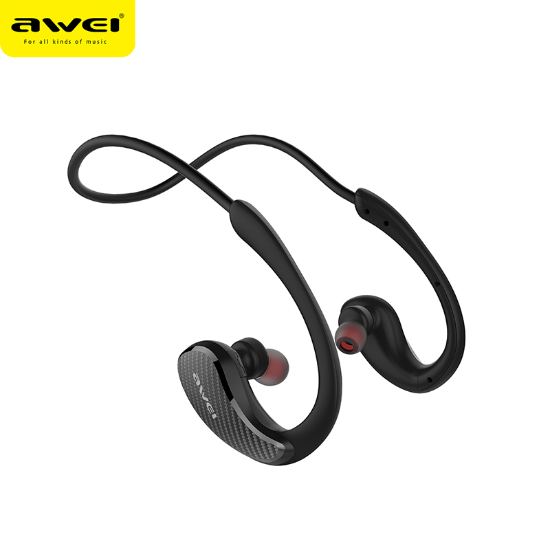 AWEI A881BL Wireless Bluetooth Earphone Earbuds With Microphone 3D Stereo Neckband Sport Waterproof Noise Cancelling Earphones