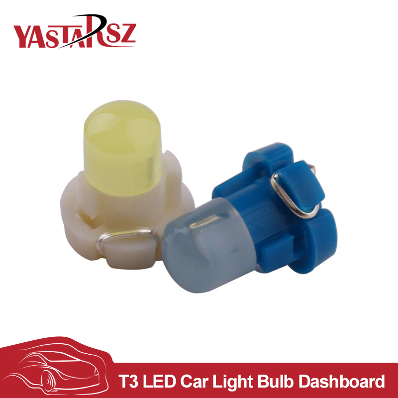 New 1PCS 12V T3 COB auto car led Instrument Dashboard Dash Indicator Light Bulb DC Panel Bulb yellow red blue Vehicle Lamp CAR izztoss yellow taxi cab roof top sign light lamp magnetic large size car vehicle indicator lights