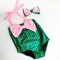 2017 New Style Girls Bikini Swimwear Mermaid Swimsuit Cartoon Kids Swimwear Girls Bikini Bathing Suit Infantil