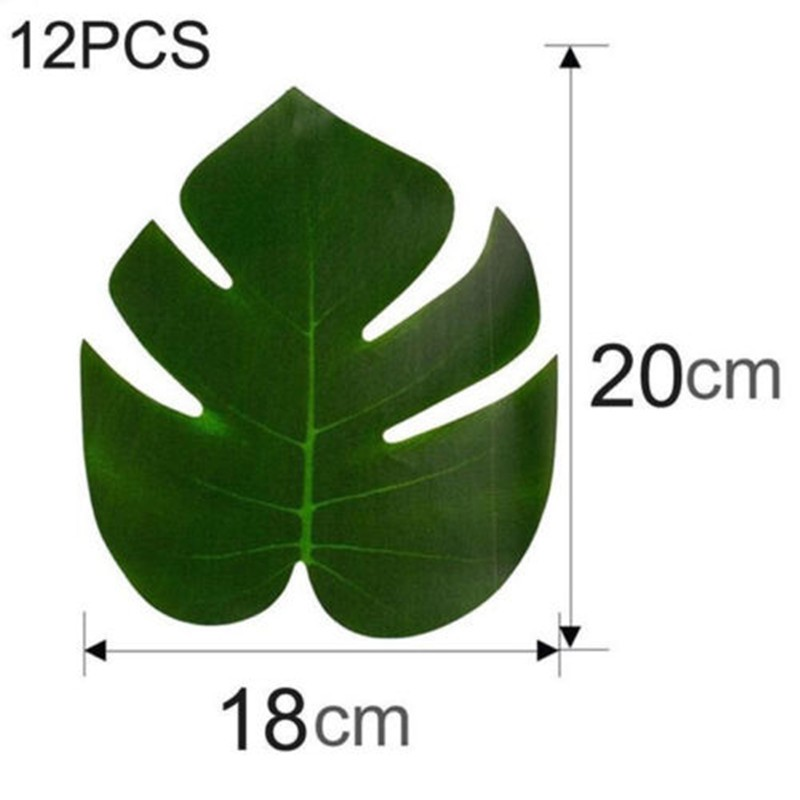 Green Jungle Plants Artificial Leaf Tropical Palm Leaves Turtle Leaf Indoor And Outdoor Ball Party Decorations Home Decor in Artificial Plants from Home Garden