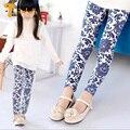 TWINSBELLA Baby Girl Leggings Kids Cotton Pants For Spring/Autumn Baby Leggings Children Pants China Flower Leggings For Girls