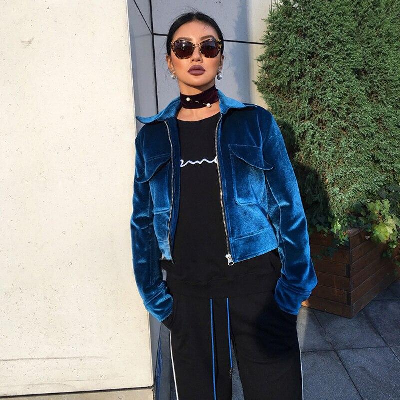 Хорошее качество богатый вид Для женщин одноцветное пальто Зимние вельветовые куртки куртка-бомбер пальто верхняя одежда осень ...