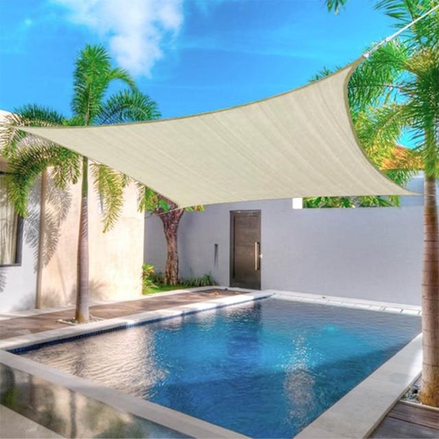 4x2m/3x5m Waterproof Sunproof Mesh Net Sun Shade Sail UV Protection Sun Shelter Awning Sunshade Nets Yard Garden Hiking