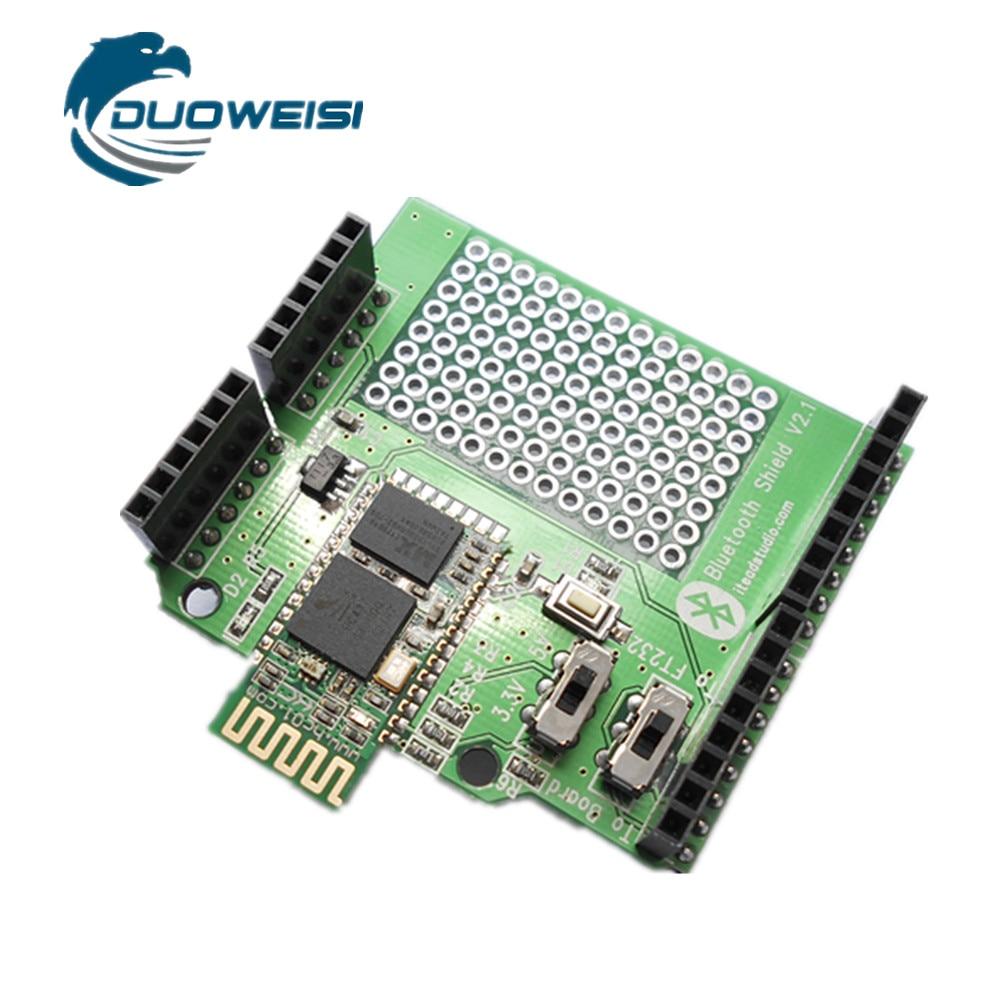 Itead HC05 Bluetooth module expansion board Bluetooth Shield slave/host 2.2 pn532 nfc rfid shield module breakout board development board expansion board silver