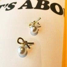 Neatear2019 Delicate Metal Pearl Lovely Party Birthday Gift Korean Earrings Instagram Internet Celebrity