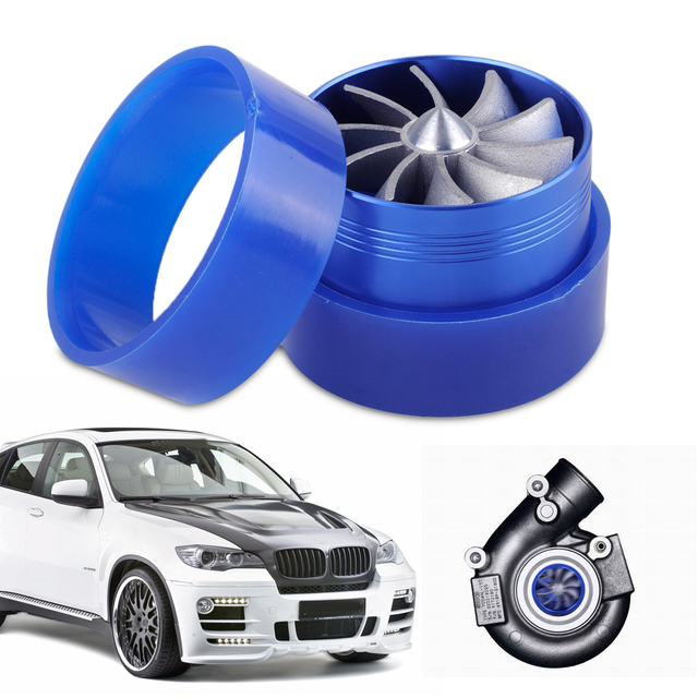 Dwcx Car Supercharger Turbonator Double Turbine Turbo Charger Air Intake Fan Fuel Gas Saver For Vw