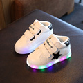 Kids LED Luminous Sneakers  New Winter Children Stars Warm Boys Sports shoes for girls shoe with lights Size 21~30
