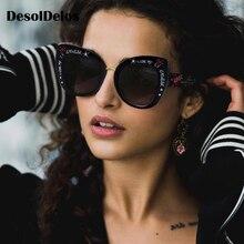Oversized Cat Eye Sunglasses women luxury brand 2019 cateye eye glasses love shape stylish graffiti lunette de soleil femme stylish rhinestone and cloud shape embellished sunglasses for women