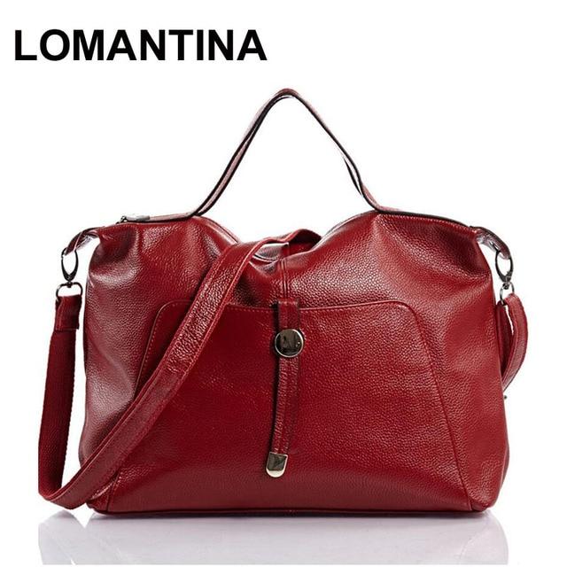 New Designer Genuine Leather Bag Fashion Women Handbag Brand Bolsas Femininas Messenger Red