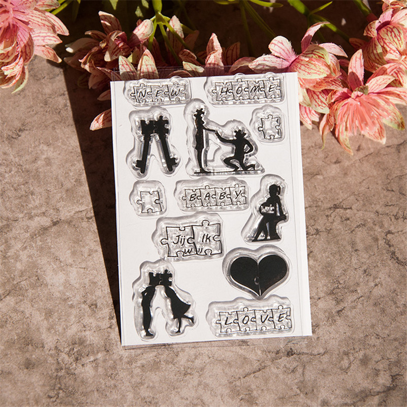 loving lover design Scrapbook DIY photo Album paper cards craft rubber stamp clear stamp transparent stamp for christmas gift wyf1017 scrapbook diy photo album cards transparent silicone rubber clear stamp 11x16cm camera