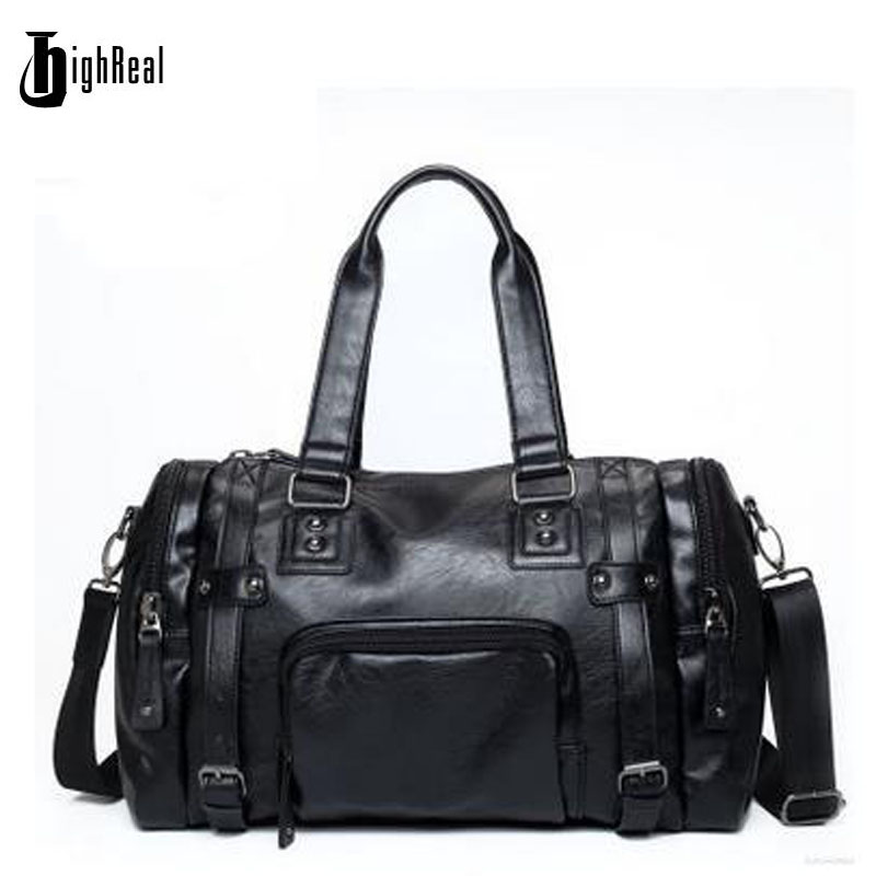 HIGHREAL New Men Travel Bag Pack Fashion Leather Male Bag Crossbody bags Shoulder Handbag Mens Messenger Bag J12