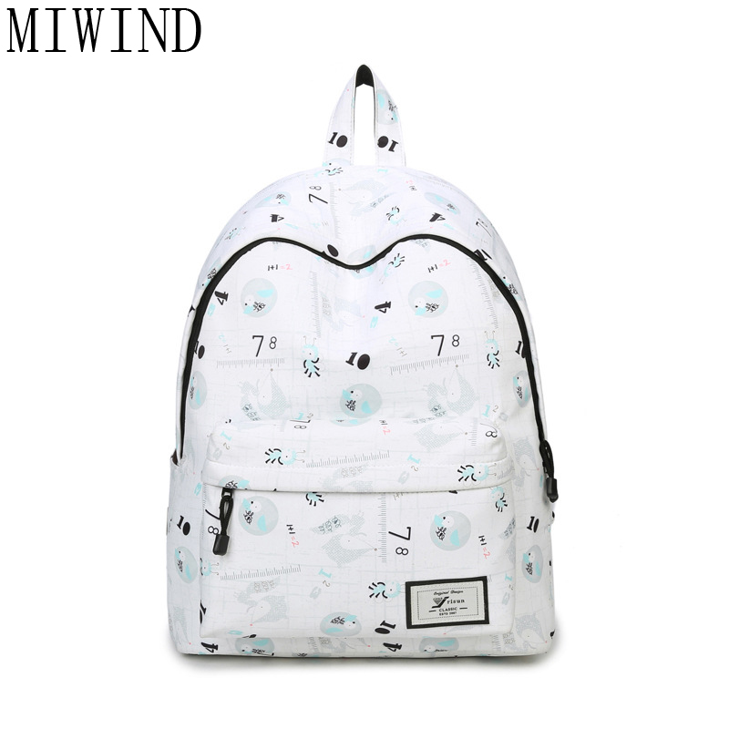 MIWIND  Brand 2017 Daily Women Backpack For School Teenager Girls Travel Backpacks Casual Backpack TJQ955 miwind 100